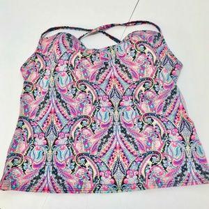 Victoria Secret Swim   Paisley Print Tankini Top